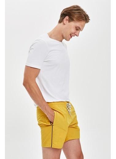 DeFacto Kısa Boy Basic Deniz Şortu Sarı